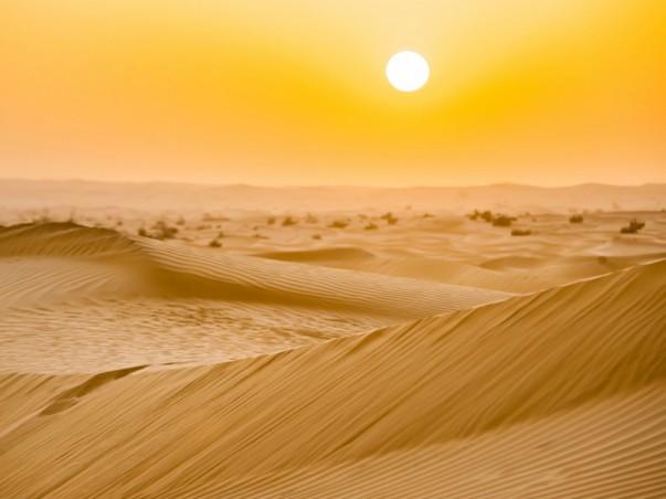 Solar power farm in the sahara desert